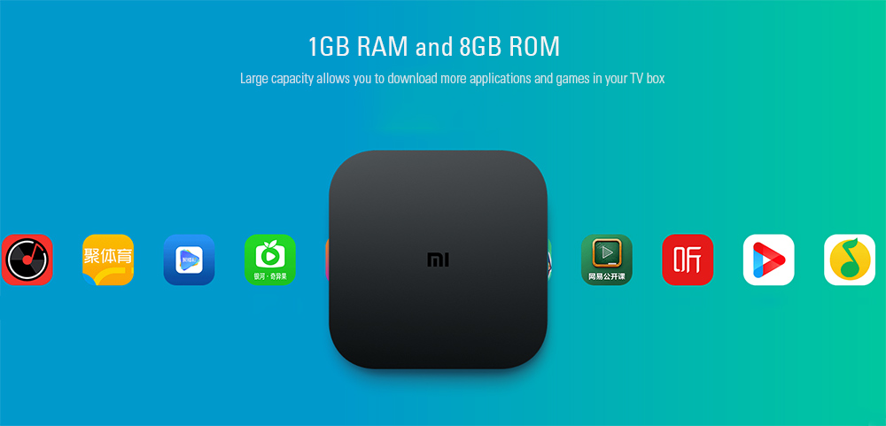 Original Xiaomi Mi4C Patchwall TV Box Amlogic S905L / 1GB RAM + 8GB ROM / 2.4G Wi-Fi / BT4.1+ EDR / Supports 4K HDR / H.265 / DTS-HD