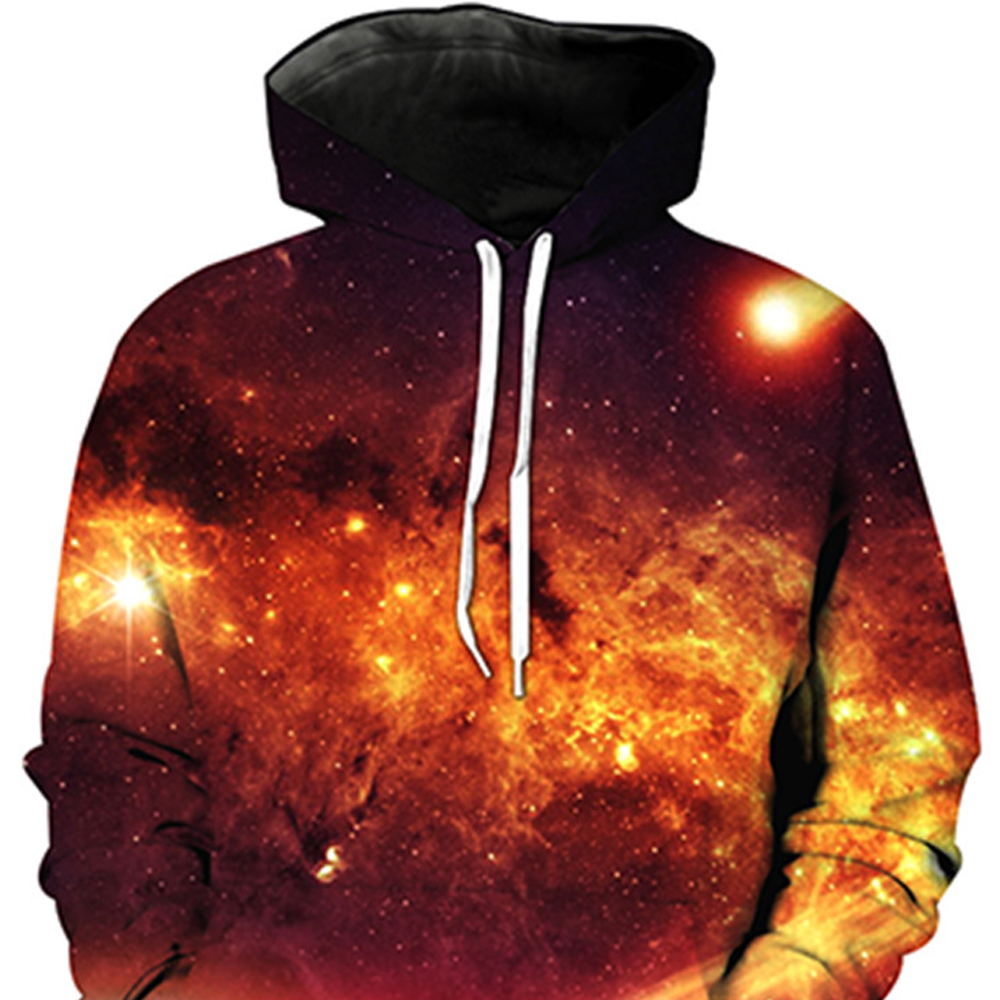 Outer Space Printing Hoodie