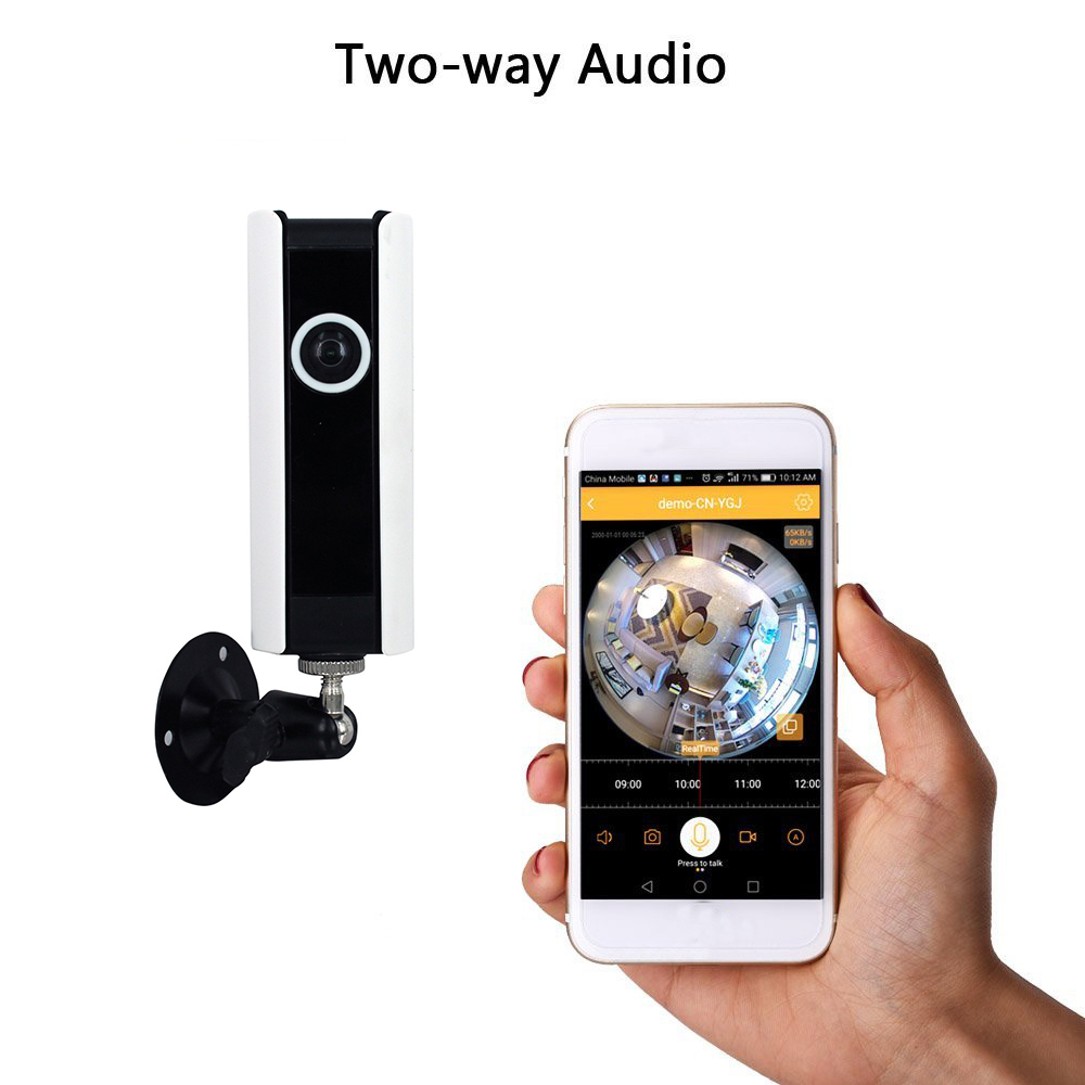 Wireless Home Security Surveillance Camera Dvr Hd Wifi Indoor Cam Remote View Mobile With Shock Sensor And Power Adapter Video Monitoring 185 Degree Super