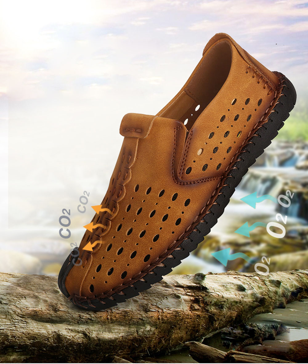 Men Shoes Fashion Business Leisure Casual Soft Cross Summer Loafers British Sneakers