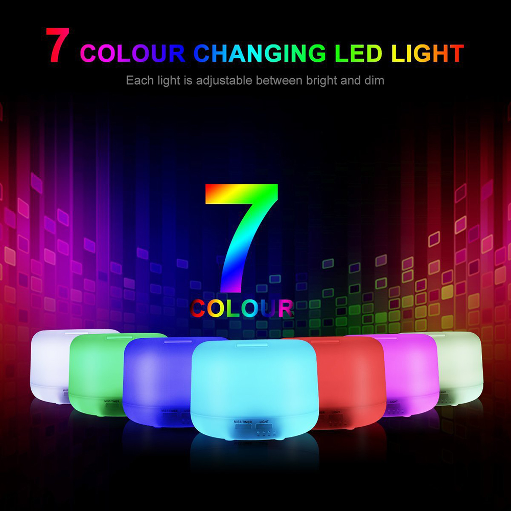Air Humidifier 7 Color Changing LED Light Home Mute Mini Office Bedroom