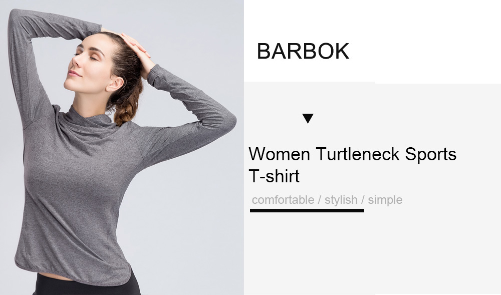 BARBOK Women Breathable Long Sleeves T-shirt