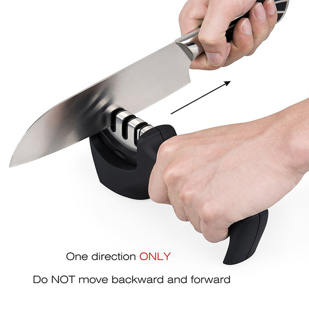 Kitchen Knife Sharpener - 3-Stage Knife Sharpening Tool Helps Repair ...