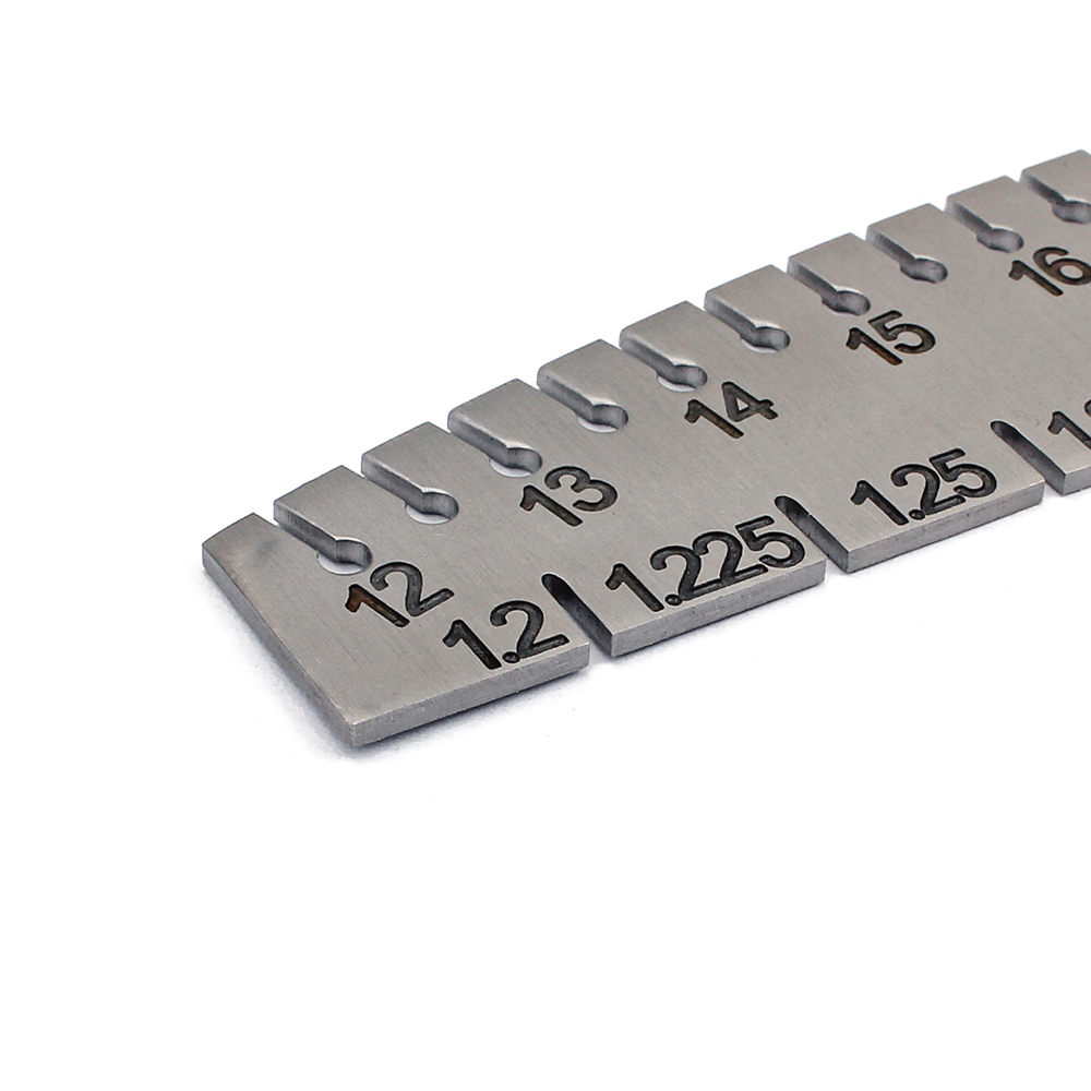 Stainless steel piano tuner wire gage type keyboard ruler 139 stainless steel piano tuner wire gage type keyboard ruler greentooth Gallery