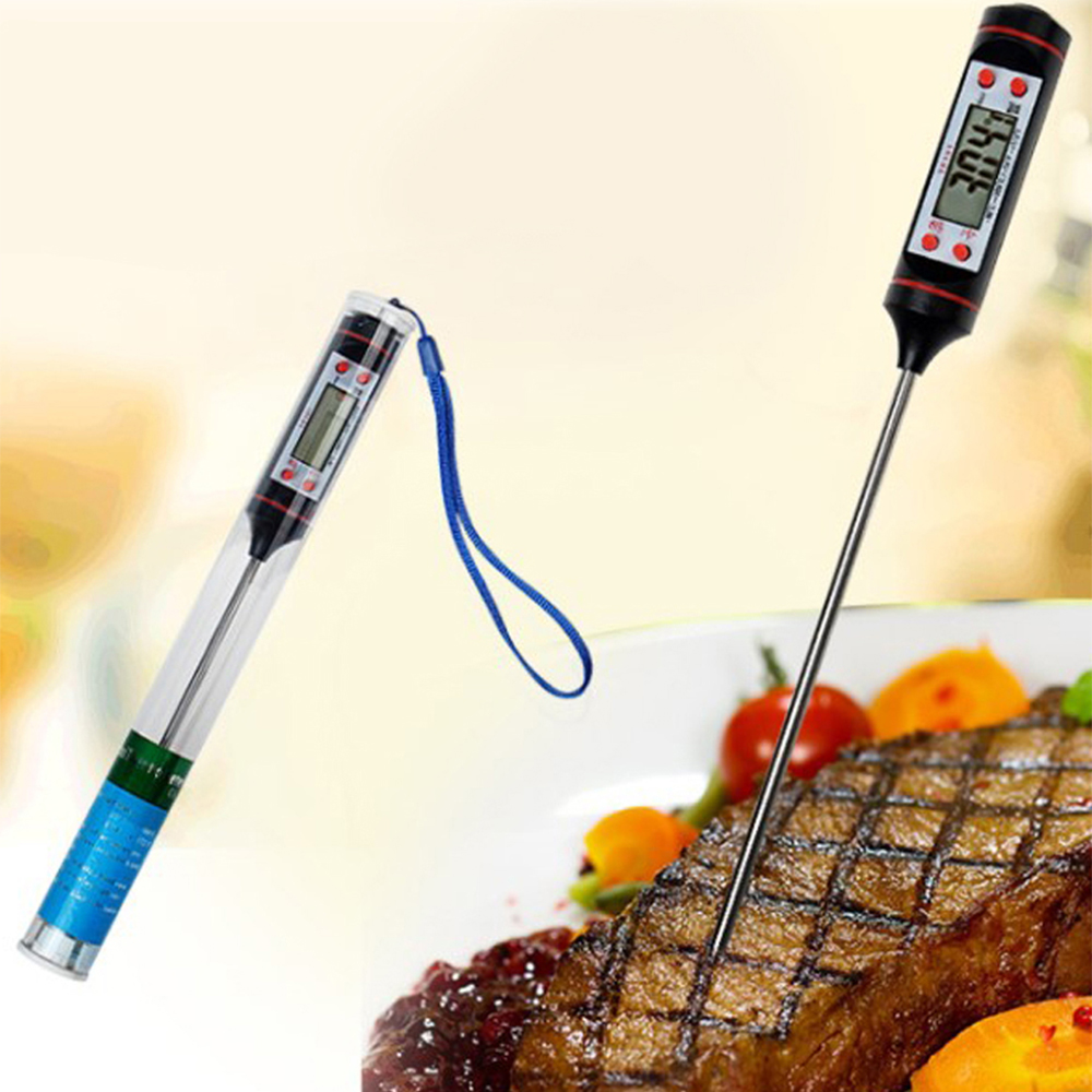 Kitchen Cooking Food Meat Probe Digital BBQ Thermometer Instant Read Gas  Oven Thermometer Tools