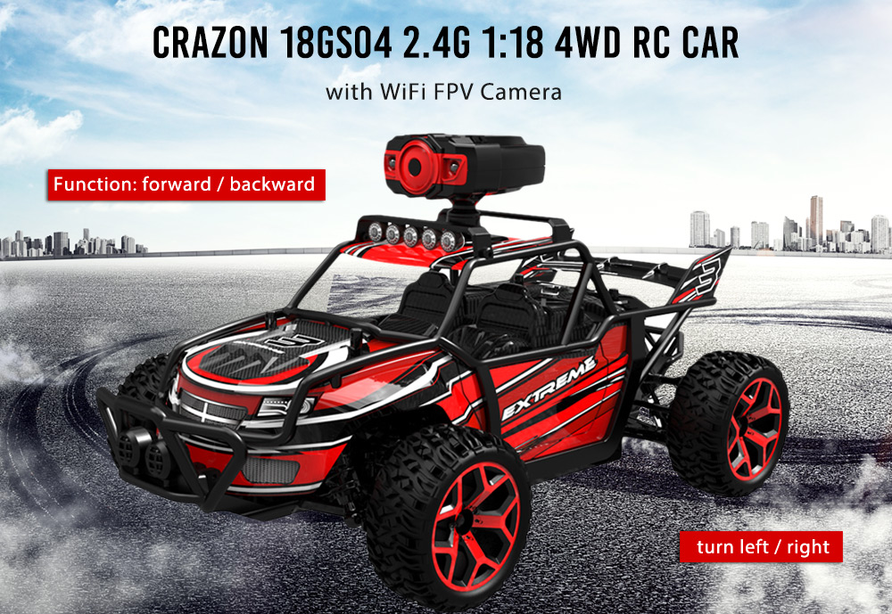 Crazon 18GS04 2.4G 1:18 4WD RC Car with WiFi FPV Camera