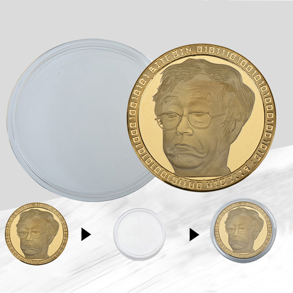 Bitcoin Handicrafts Virtual Currency Commemorative Coins Collection