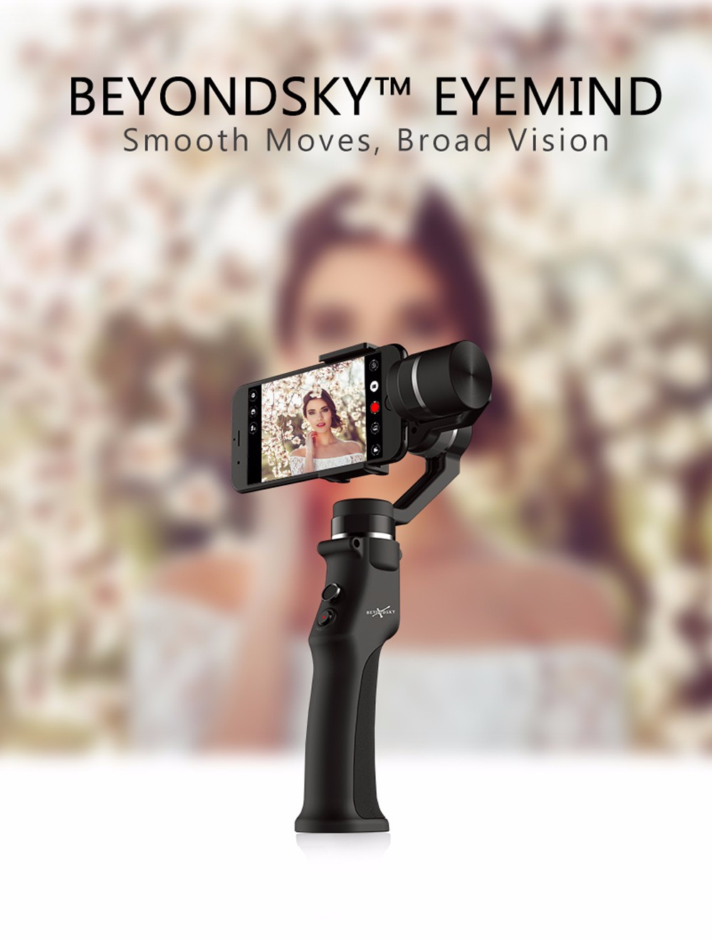 Beyondsky Eyemind Intelligent Handheld Gimbal Suitable for Phones with Width of 55 - 80mm- Black