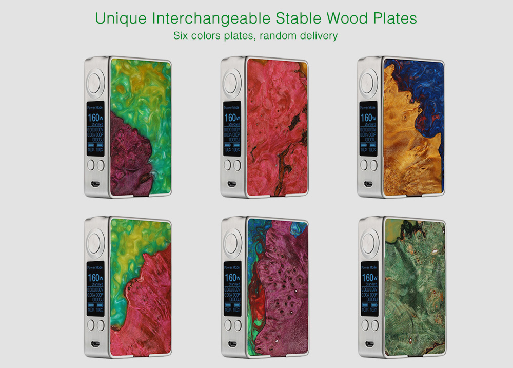 Aleader Funky 160W Stable Wood Box Mod with 200 - 600F / Supporting 2pc 18650 Batteries for E Cigarette 1pc