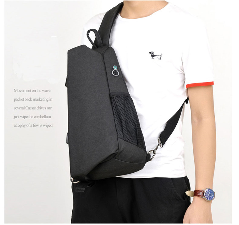 Messenger Bag Men Nylon Multipurpose Chest Pack Sling Shoulder for Casual Crossbody New Fashion