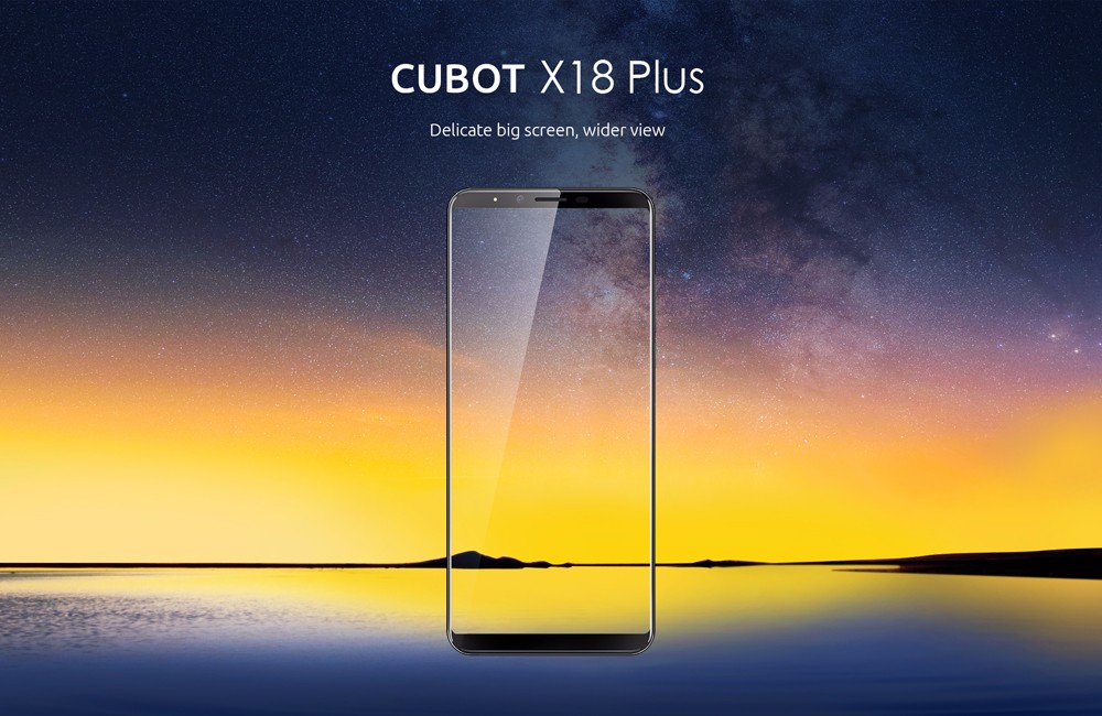 CUBOT X18 Plus 4G Phablet 5.99 inch Android 8.0 MTK6750T 1.5GHz Octa Core 4GB RAM 64GB ROM 4000mAh Battery 20.0MP + 2.0MP Dual Rear Cameras Fingerprint Recognition- Blue