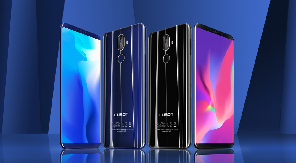 CUBOT X18 Plus 4G Phablet 5.99 inch Android 8.0 MTK6750T 1.5GHz Octa Core 4GB RAM 64GB ROM 4000mAh Battery 20.0MP + 2.0MP Dual Rear Cameras Fingerprint Recognition- Black