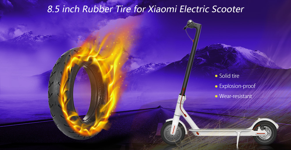 8 5 inch Wearproof Rubber Solid Tire for Xiaomi Electric Scooter