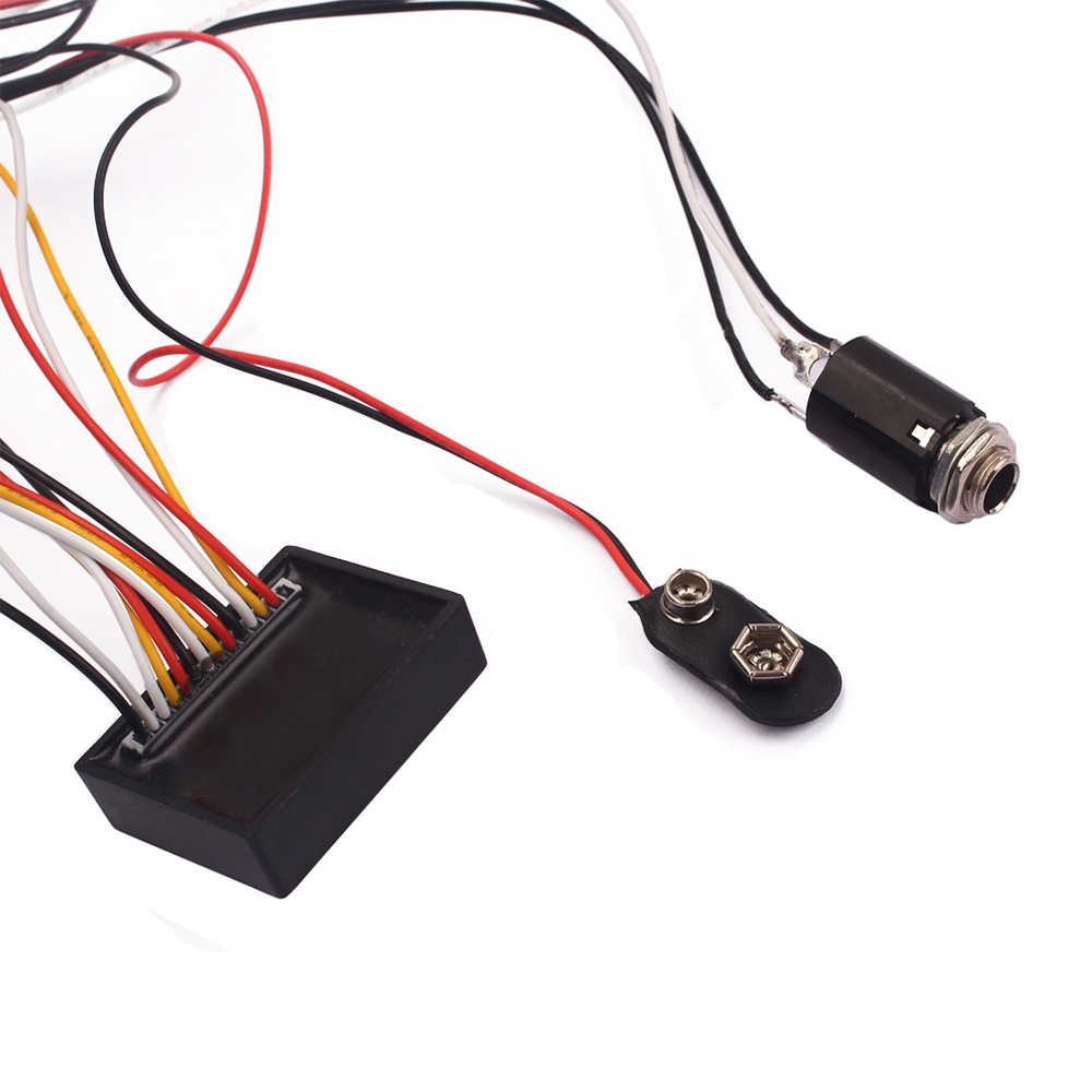 3 Band Eq Preamp Circuit Bass Guitar Wiring Harness And Jb Pickup Equalizer Control Set Black