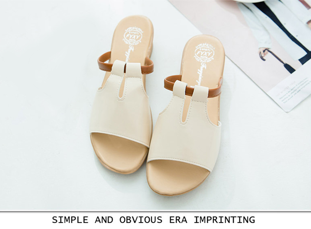 Women Summer Non-slip Slippers Casual PU Sandals