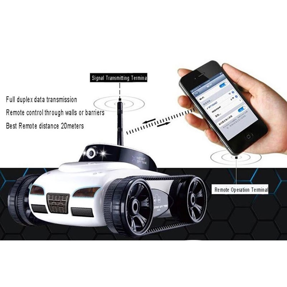 Happycow Rc Tank 777 270 Wifi Tank Car Toy With Camera Remote