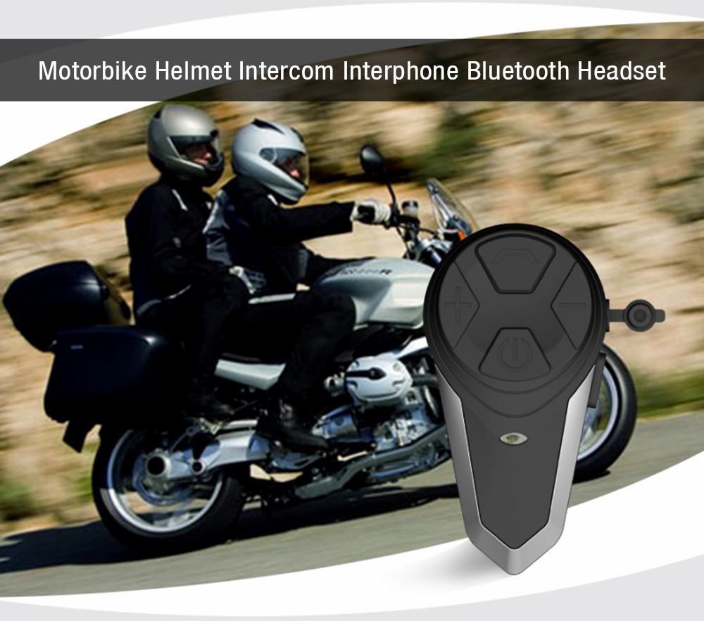 Hands Free Motorbike Bluetooth Headset Audio Helmet Intercom Interphone