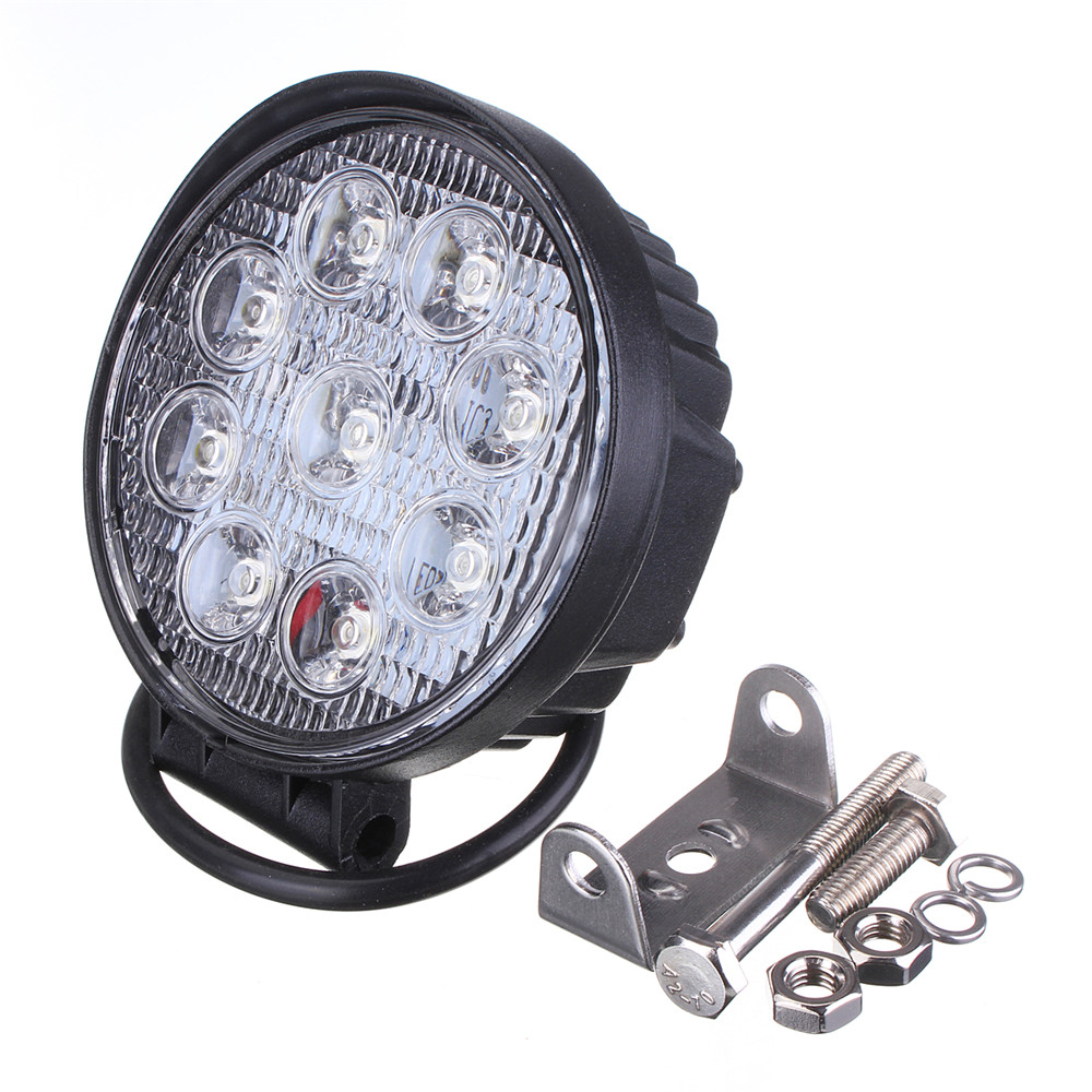 Grebest Car Light Headlight Working Light 27W 1700lm 9 LED Square Off Road Truck Working Light Inspection Lamp Spotlight
