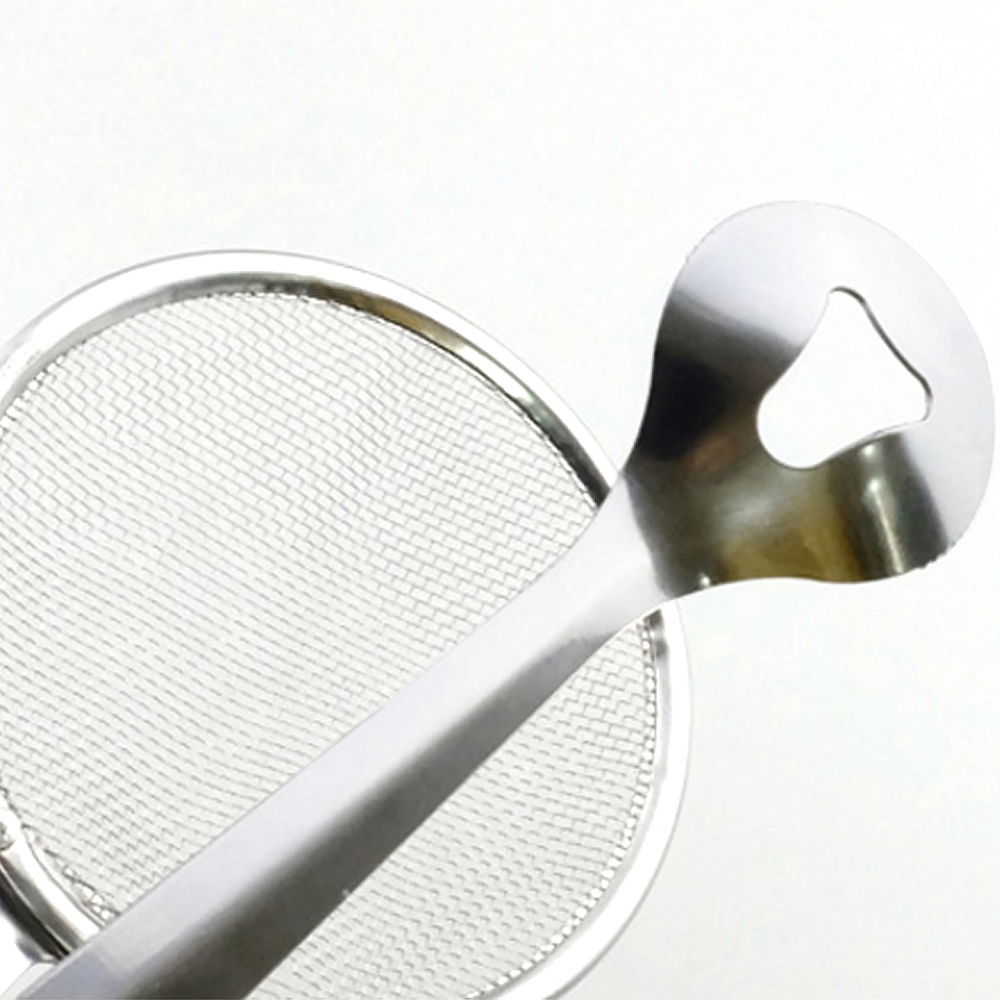 Food Clip Kitchen Filter Mesh Spoon Fried Oil Strainer Clips Kitchen Tool- Stainless Steel