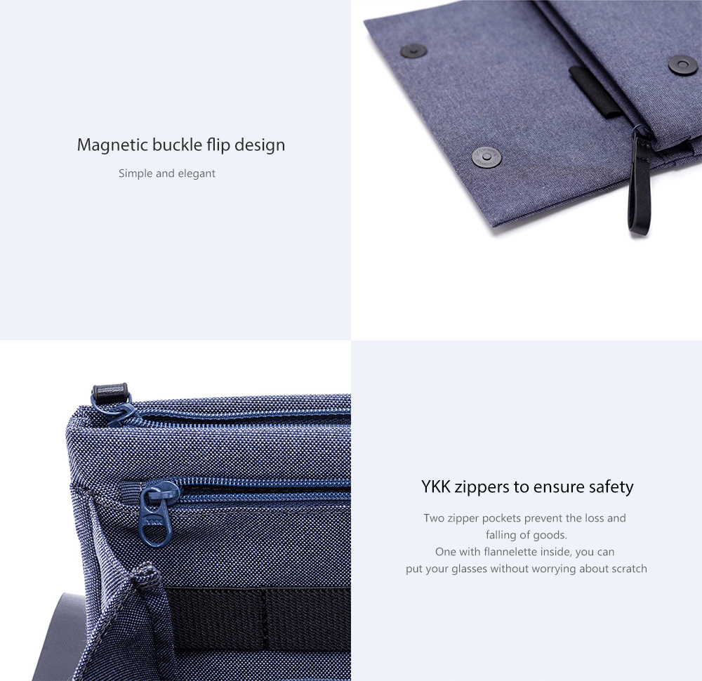 Xiaomi Portable Digital Storage Bag Multi-partition Carrying Case Pouch- Deep Gray
