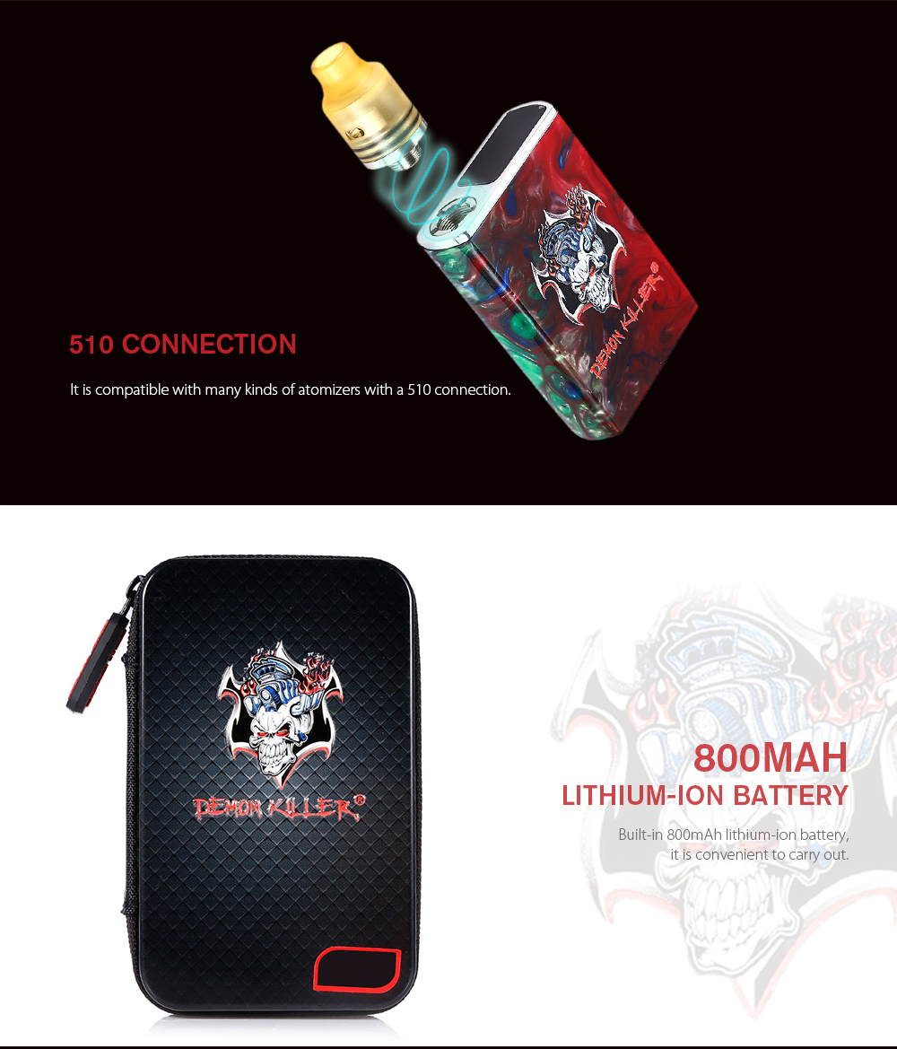 Demon Killer Tiny Kit with 800mAh for E Cigarette
