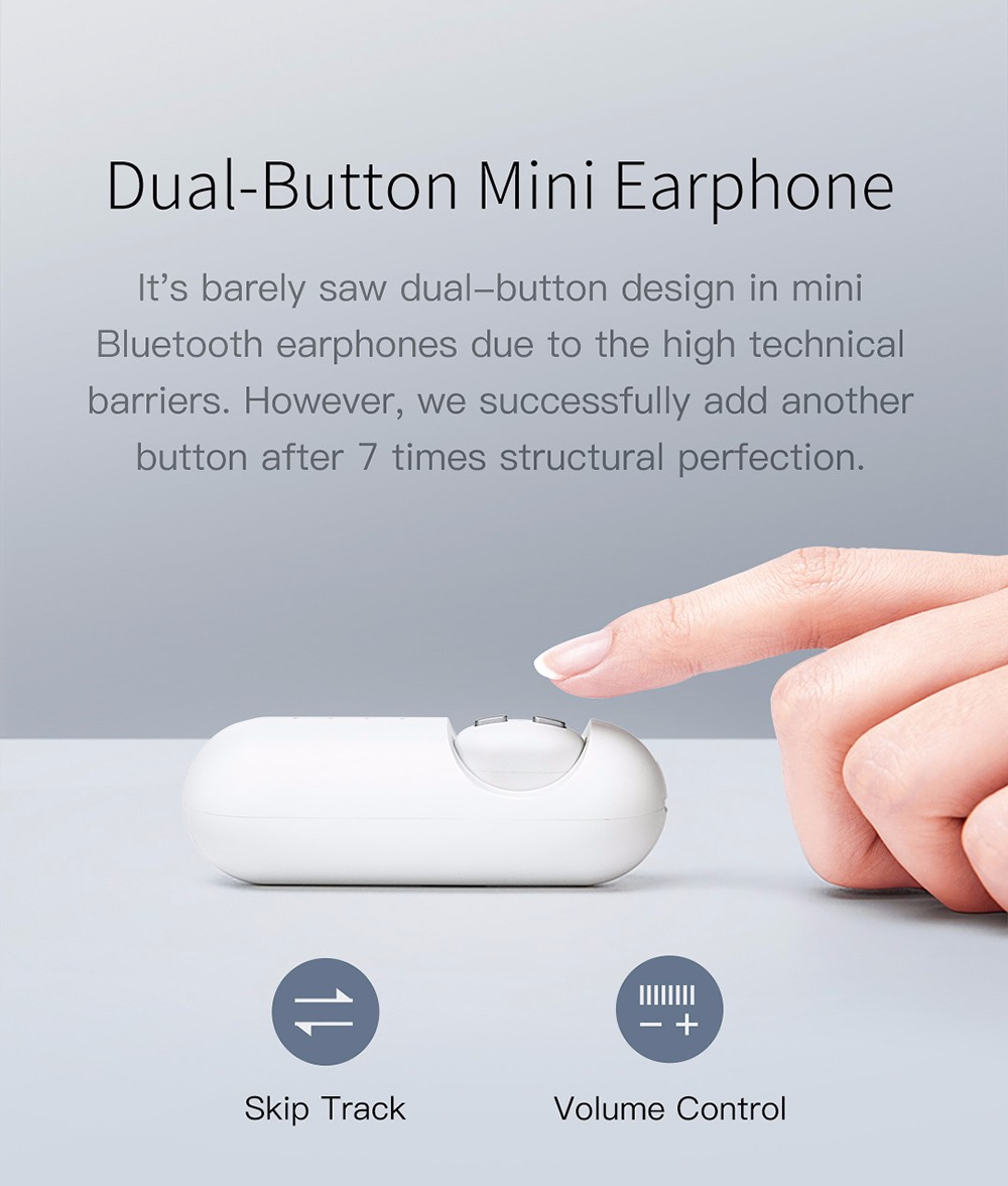 QCY MINI Wireless Bluetooth Mini Sports Earbud Invisible and Universal