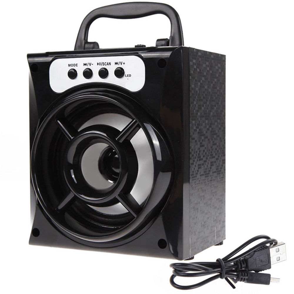Outdoor Bluetooth Wireless Portable LED Speaker Super Bass USB//TF//AUX//FM Radio