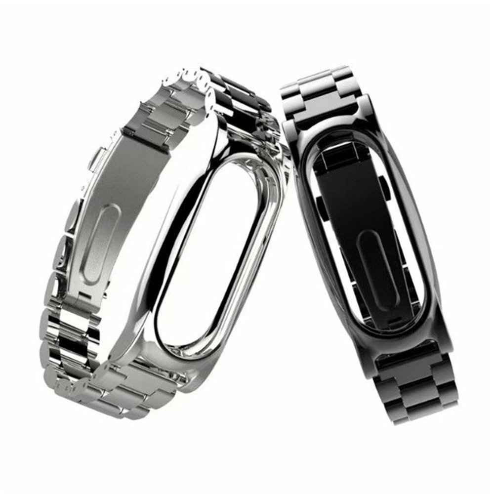 Magnet Stainless Steel Luxury Wrist Strap Metal Wristband for Xiaomi Mi Band 2