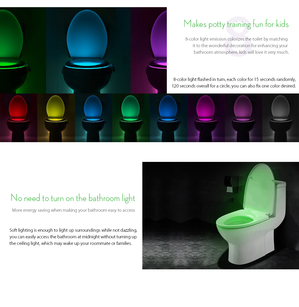 Home & Garden Party Decor Supplies Toilet Cover Lamp Color Change Led Toilet Night Use Lights Motion Activated Sensor Toiletlight Random Color 50% OFF Glow Party Supplies