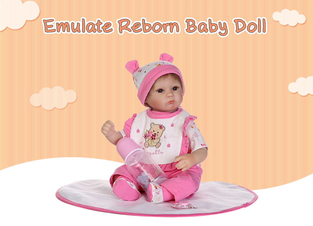 NPK Emulate Reborn Baby Doll Sleep Helper Toy Baby Care Prop Ornament Gift