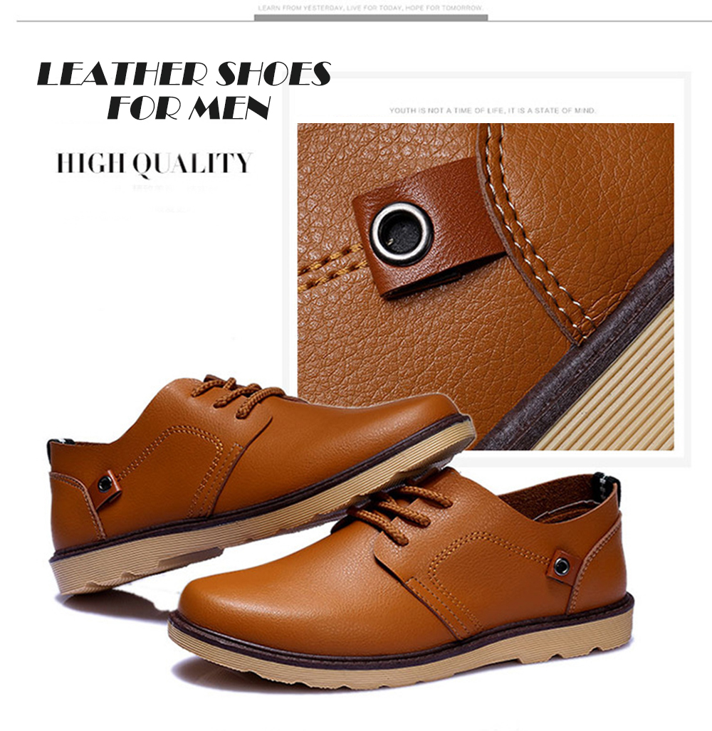 Fashion Casual Lace-up Leather Shoes for Men