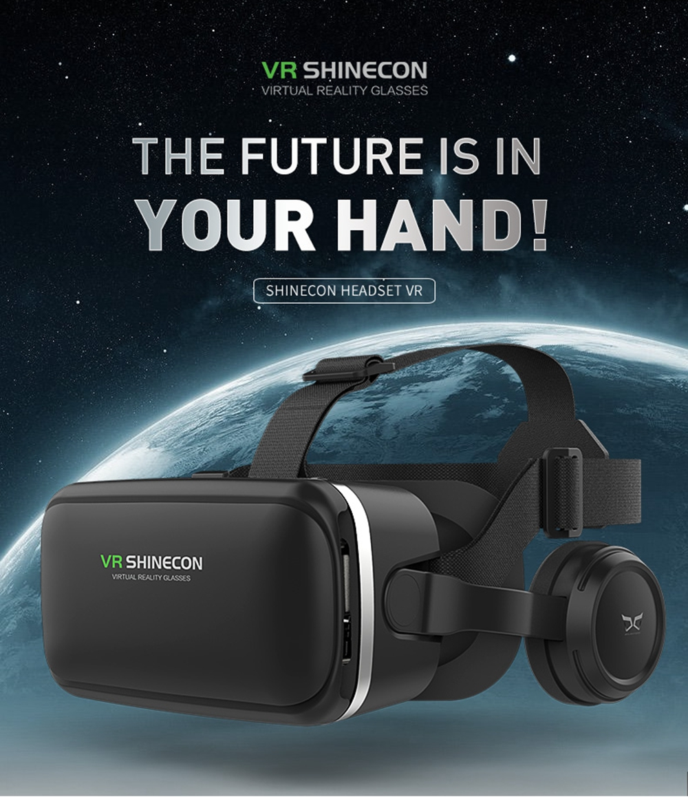 VR SHINECON 6 Generations of Upgraded Version VR GLasses 3D Virtual Reality