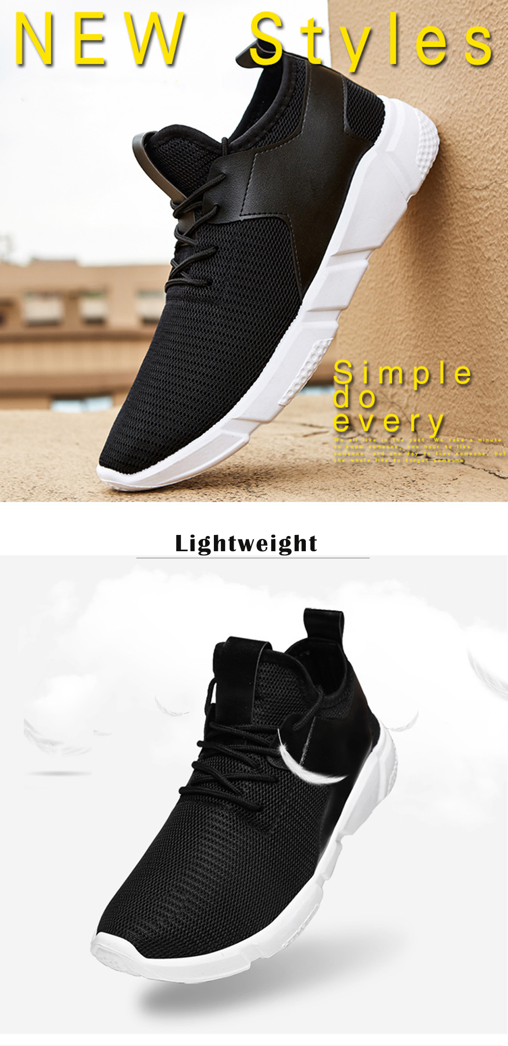 Men Casual Breathable Mesh Sneakers Comfort Running Shoes