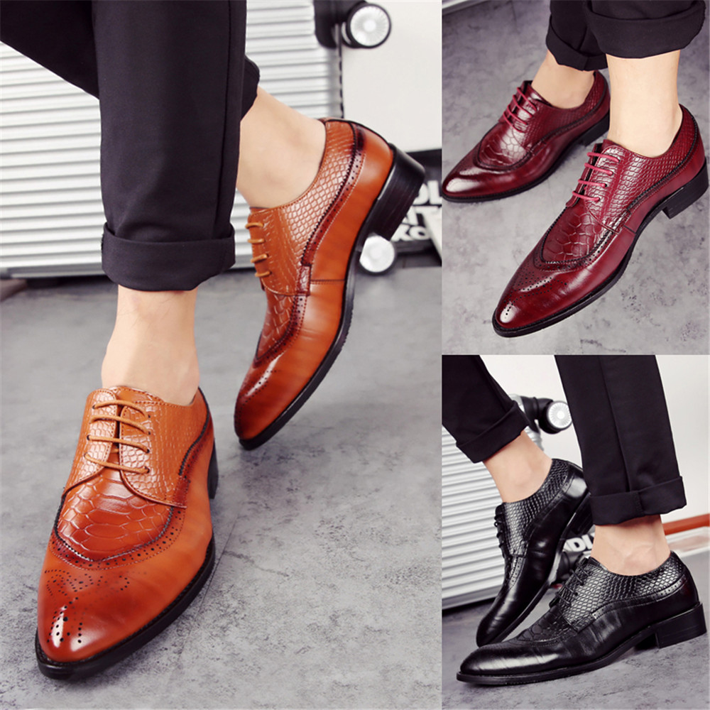 ZEACAVA Men's Classic Pointed Toe Portable Slip On Business Leather Shoes