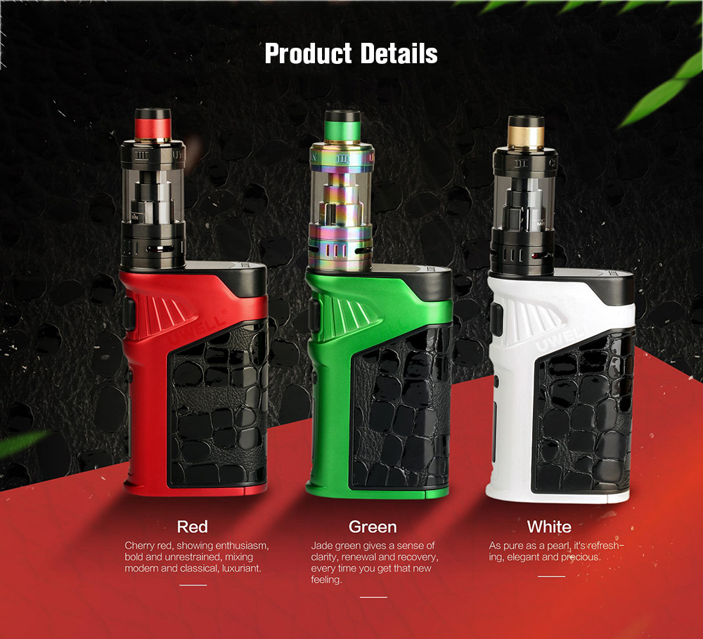 Uwell Ironfist 200W TC Box Kit with 200 - 600F / 5ml For E Cigarette