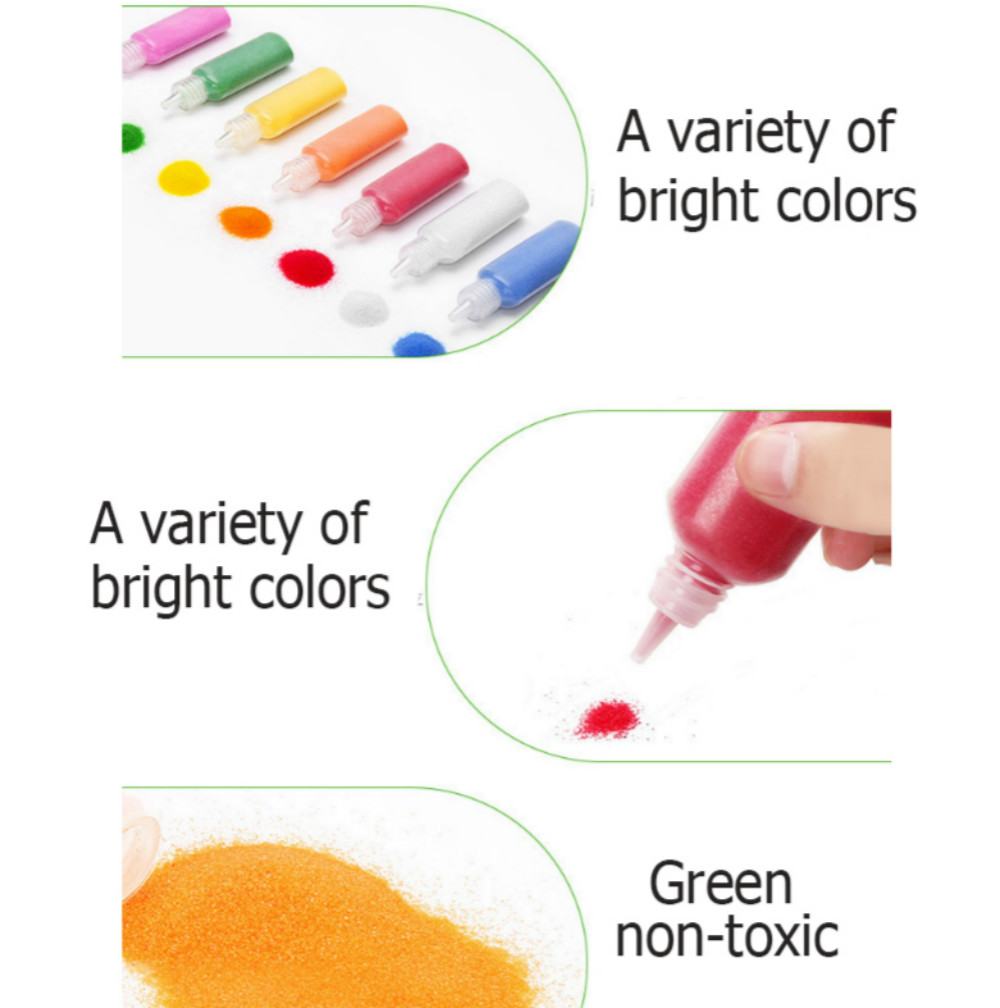 18 Colors Sand Drawing Set Kids DIY Puzzle Handmade Early Education Art Toy