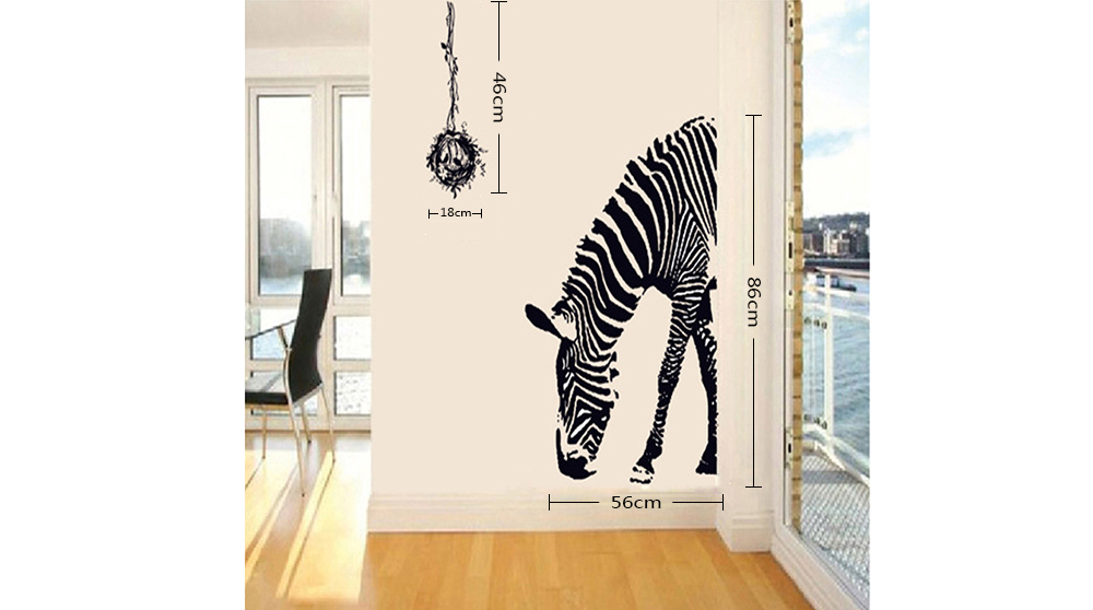 Fashion DIY Removable Zebra Wall Sticker Decal Wallpaper for Home Decor