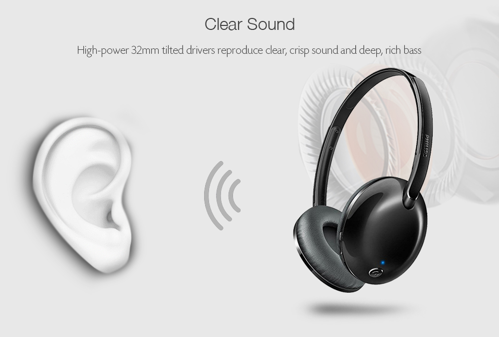 Philips Flite Shb4405 Foldable Wireless Bluetooth Headphone Sale Price Reviews Gearbest