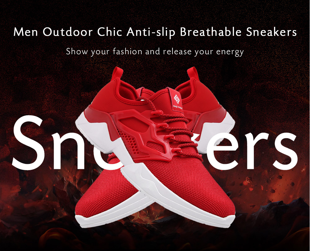 Chic Soft Anti-slip Breathable Sneakers for Men