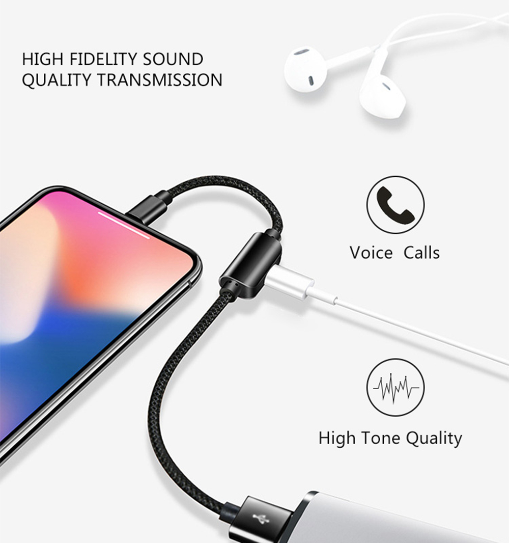 IPhone 7 8 Plus X 10 Adapter Cable, Benks Dual 8PIN Splitter Charger Adapter Cable Accessories [Support IOS 11] Dou