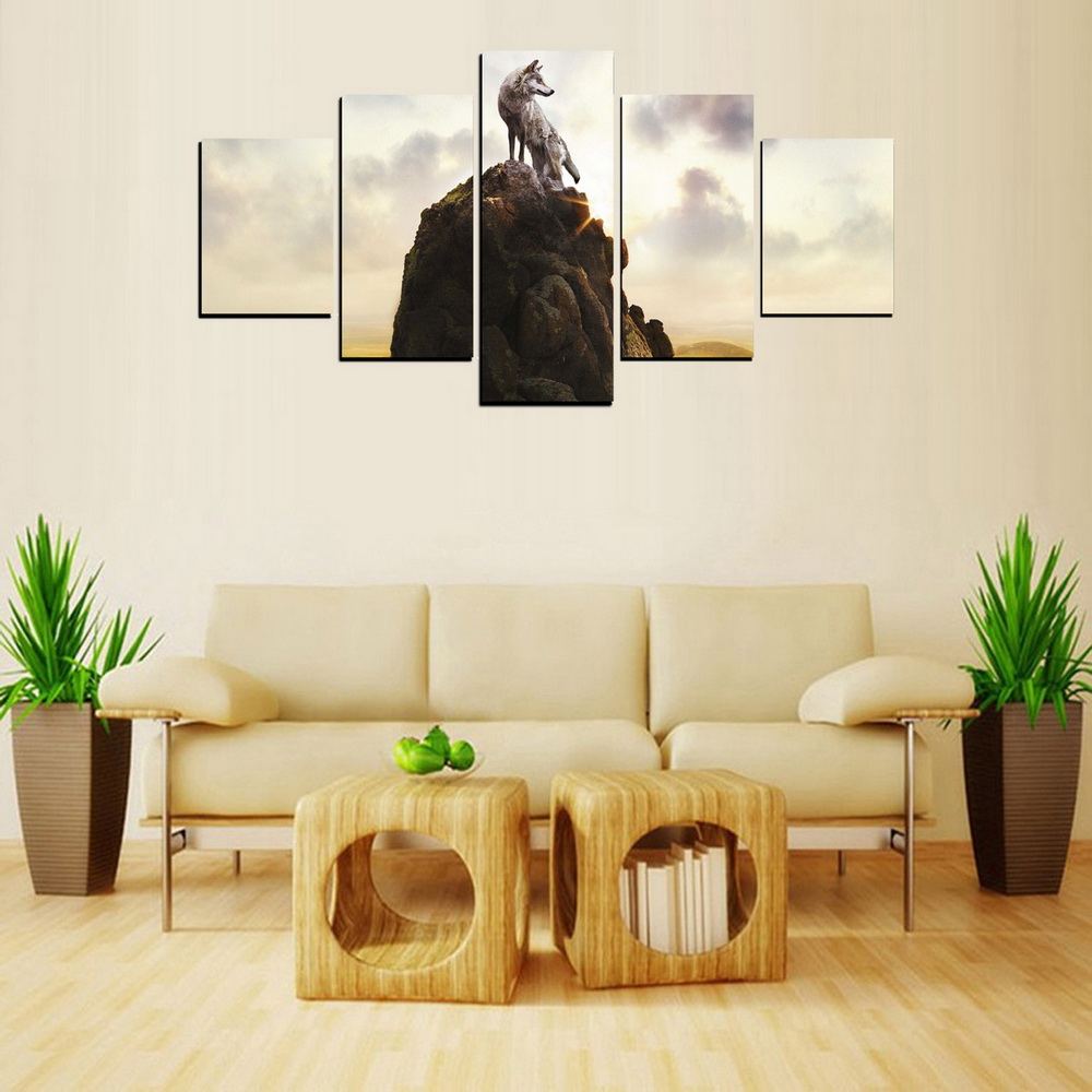 MailingArt FIV406  5 Panels Landscape Wall Art Painting Home Decor Canvas Print