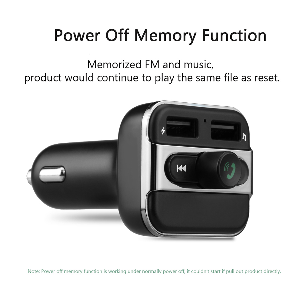 Bluetooth Car Kit handsfree with FM Transmitter 2USB Car charger TF/USB MP3  music Player