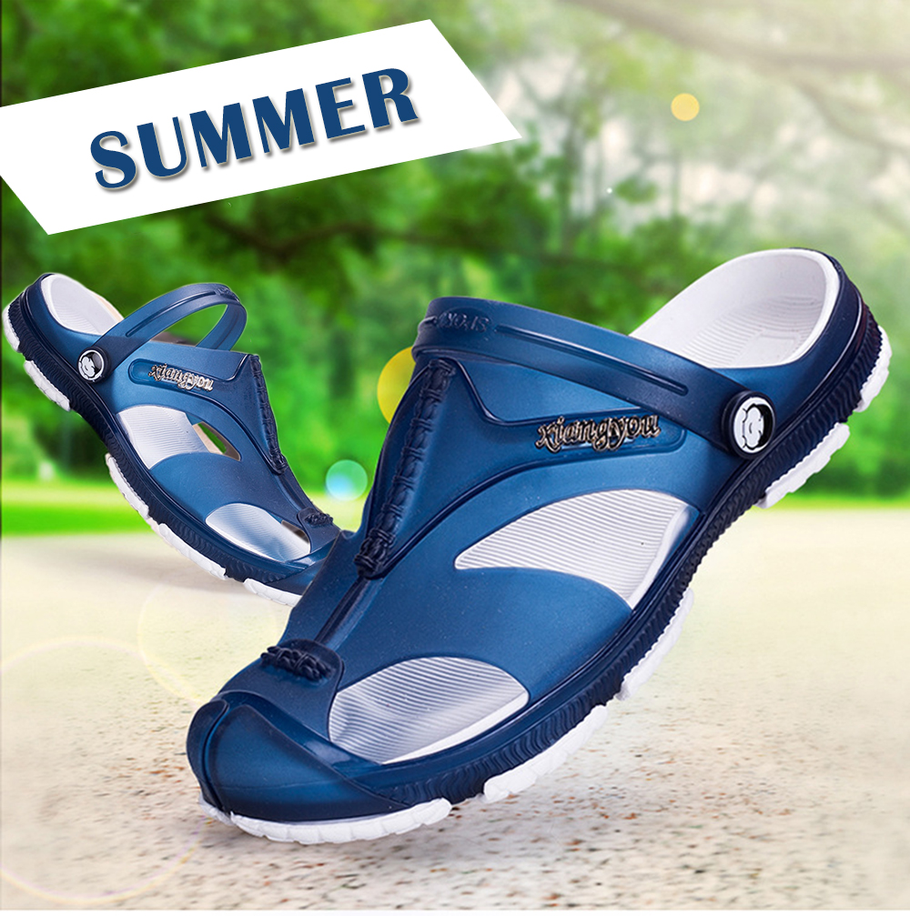 Summer Wading Slippers Cool Non-slip Buckle Sandals for Men