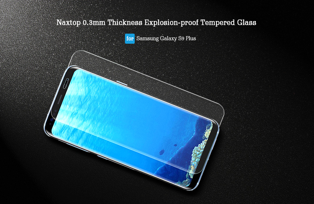 Naxtop 0.3mm Thickness Explosion-proof Tempered Glass for Samsung Galaxy S9 Plus 2pcs