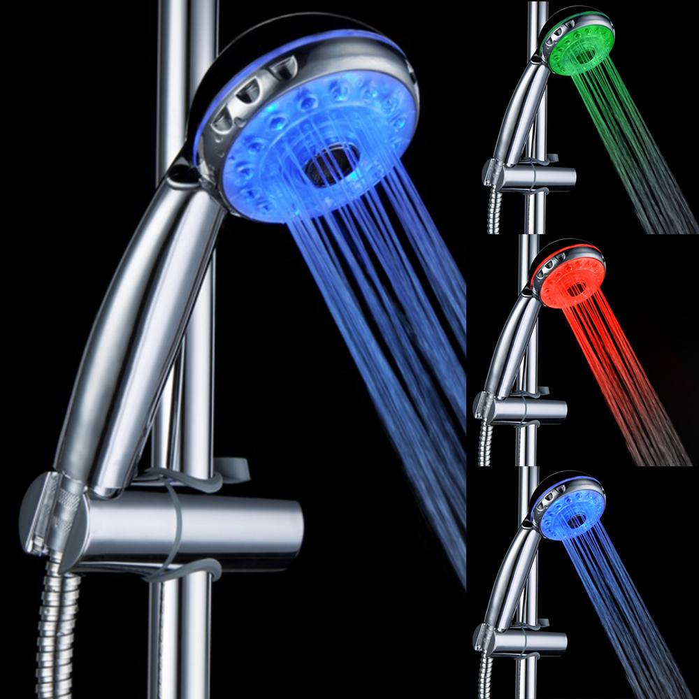 BRELONG LED Shower Head Can Adjust The Water Temperature Multi-functional Three-color Nozzle- RGB