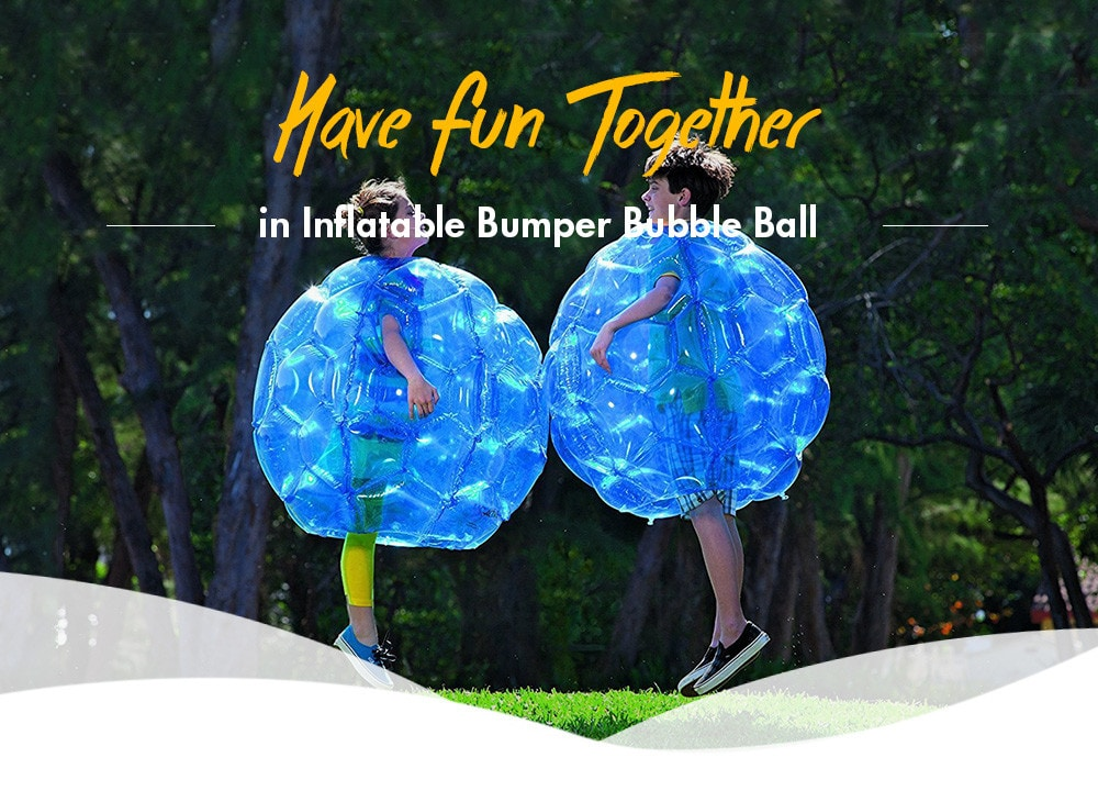 Inflatable PVC Bubble Zorb Ball Body Bumper Outdoor Game Funny Toy 90CM