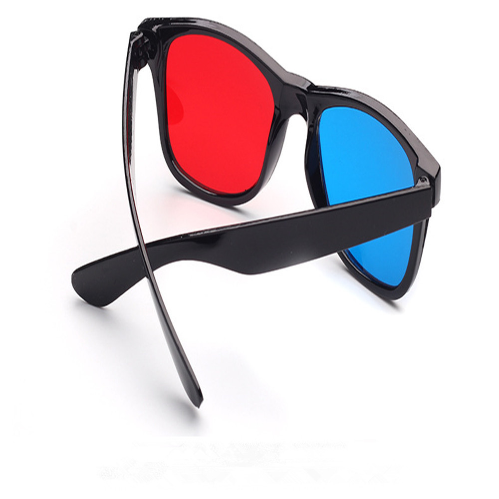 61cfdde530db 2018 New Universal 3D Glasses Frame Red Blue 3D Vision Glass for  Dimensional Anaglyph Movie DVD