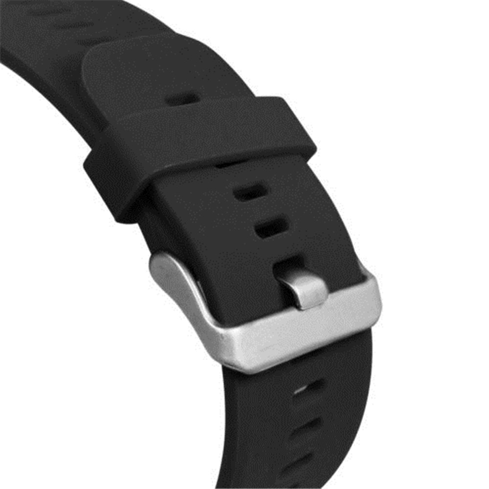 Silicone Watch Band Replacement Strap for Garmin Vivoactive HR- Black