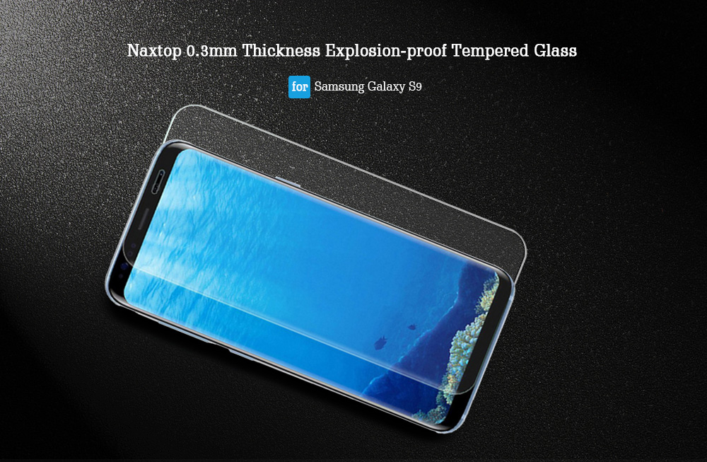 Naxtop 0.3mm Thickness Explosion-proof Tempered Glass for Samsung Galaxy S9 2pcs
