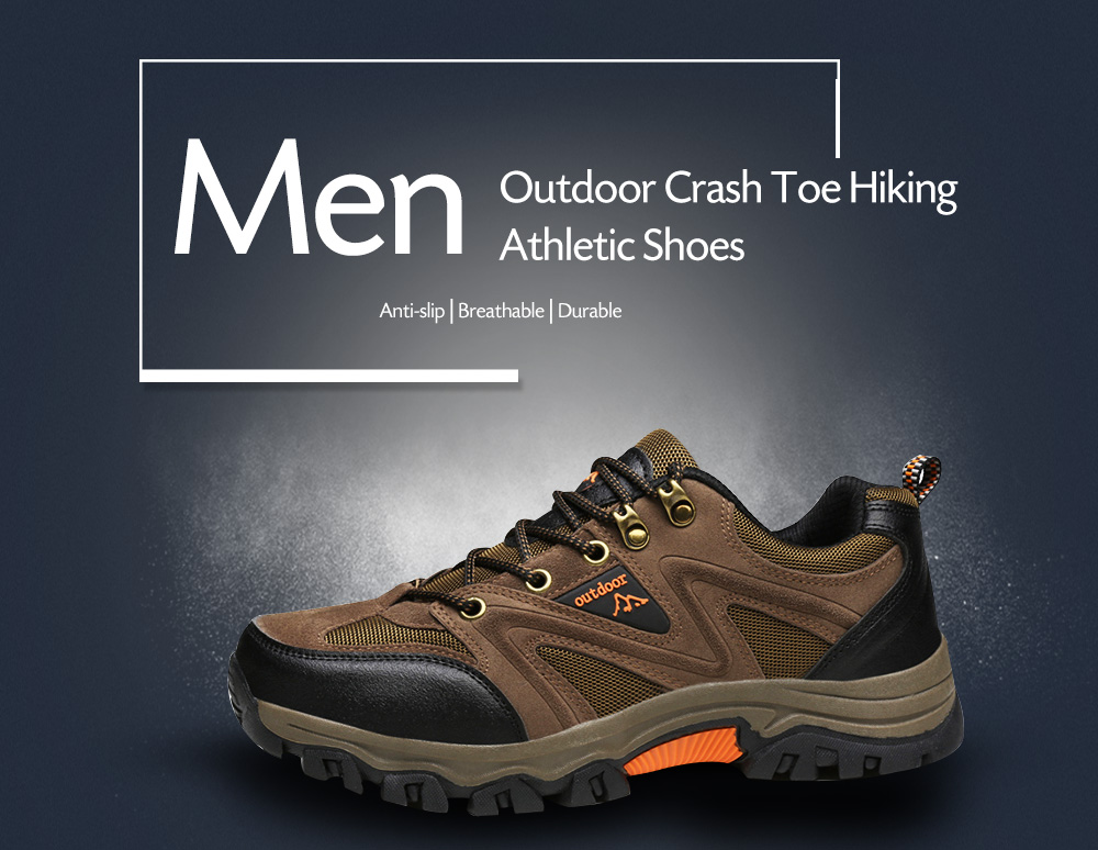 Outdoor Crash ToeBreathable Hiking Athletic Shoes for Men
